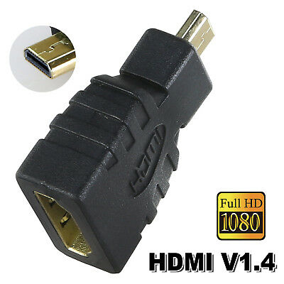 Micro HDMI Male Type D to HDMI Female Plug Converter Cable Adapter 1080P