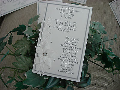 Winter Wedding Table Plan Card