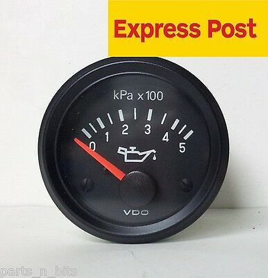 VDO COCKPIT VISION 52mm 12V 500kpa OIL PRESSURE GAUGE AUTOMOTIVE MARINE 4WD