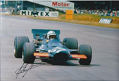 John SURTEES SIGNED Goodwood FERRARI F1 12x8 Photo AFTAL Autograph COA Genuine