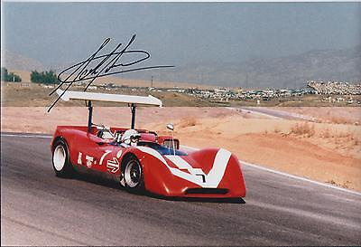 John SURTEES SIGNED Le Mans FERRARI F1 12x8 Photo AFTAL Autograph COA Genuine