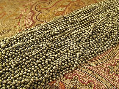 50 Antique Bronze Ball Chain Necklaces - 24 Inch - Pendant Dog Tag Bottlecap 24""