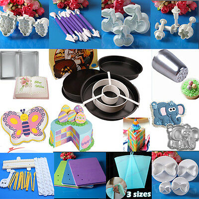 13 Styles Fondant Cake Decorating Sugarcraft Mold Cutters/Roller/Smoother/Tool