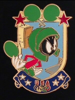Table Tennis Pin Badge~Marvin the Martian~Looney Tunes~Olympic USA Team~Atlanta