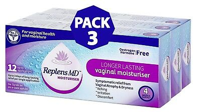 Replens MD Post-Menopause Vaginal Moisturiser - Pack of 3