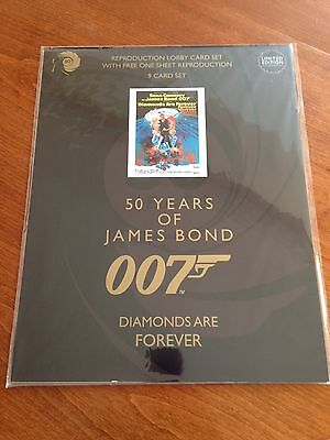 James Bond 50 Years - Diamonds Are Forever - 9 Lobby Card Collectors Set - NEW