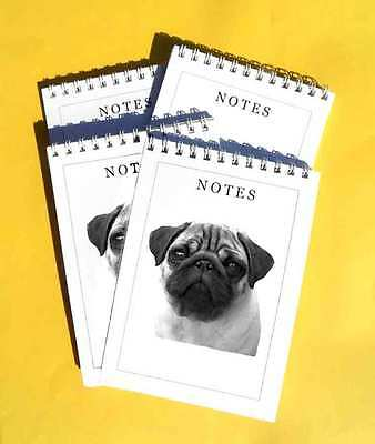 Pug Dog Pack of 4, A6 Notepads Gift Set