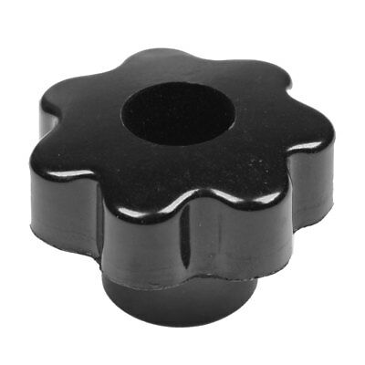 M8 Thread 50mm Dia Black Plastic Star Head Clamping Knob Grip