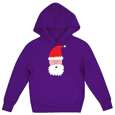 Cool Santa Claus Festive Girls Fun Novelty Childrens Father Christmas Hoodie