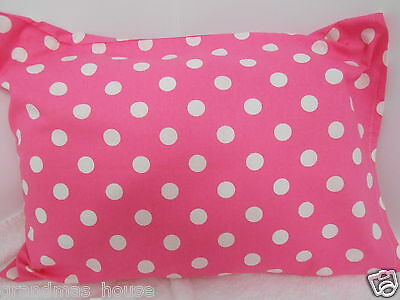 Child Toddler Cot Pillowcase Pink Polka Dots! - 100% Cotton