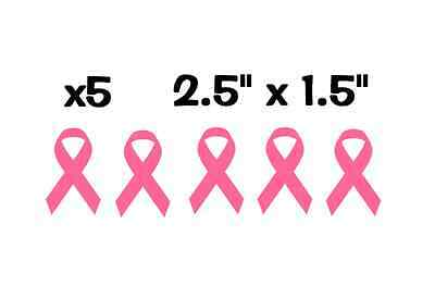 """Breast Cancer Awareness 2/"""" Ribbon Soft Pink Decal Sticker Komen Fight Cure #2 2x"""