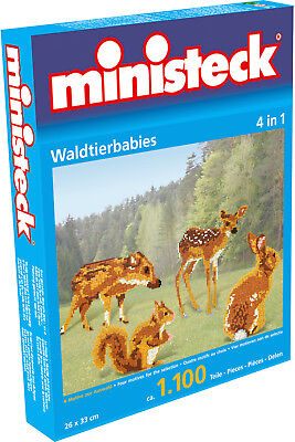 Ministeck Creativ Set 31329 Waldtierbabies 4 in 1 1100 Teile Puzzle NEU OVP