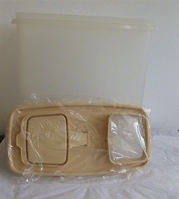 Vintage Tupperware Cereal Storer Container Sheer w/ Sandstone Seal 1588-2 NEW