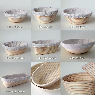 Round, Oval Bread Proofing Proving Basket, Rattan Banneton Brotform Dough, UK