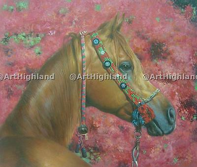 Hand Painted Realism Animal Oil Paintings Painting on Canvas Art Horse Portrait