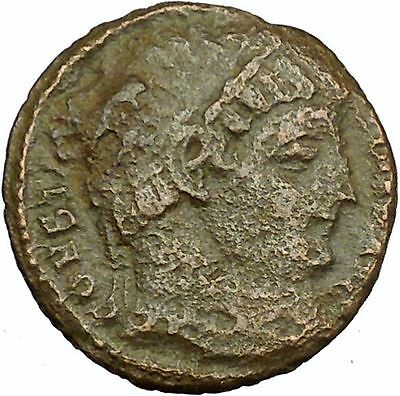 Constantine I The Great Ancient Roman Coin Military camp or bivouac gate i35455