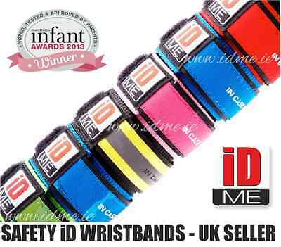 Kids Medical ID Waterproof Safety ID wristband bracelet Allergy Band Lost Child