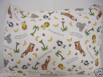 Child Toddler Cot Pillowcase Bazooples On White