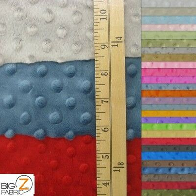 "Dimple Dot Minky Fabric 60"" Width Baby Soft Sew Sold By The Yard Cuddle Blanket"