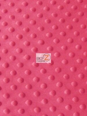 DIMPLE DOT MINKY FABRIC SEW-SOFT BABY FABRIC RAISED CHENILLE BY YARD Coral