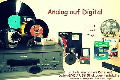 30 x Videobänder HI8/Video8/Digital8/VHS digitalisieren auf Daten-DVD in mpeg2