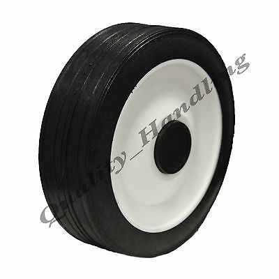 "150mm 6"" inch Lawnmower wheel spare replacement rubber wheel truck barrow"