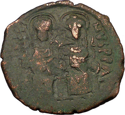 Justin II & Queen Sophia 565AD HUGE Ancient Medieval Byzantine Coin  i35506