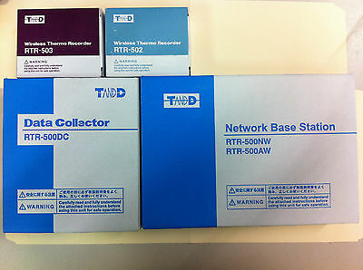 TandD Wireless Data Logger, Recorder Collector (RTR-500DC, RTR-502, RTR-503)