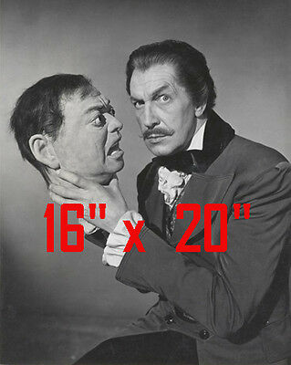 """Vincent Price~Horror~Head~Poster~16"""" x 20"""" Photo"""