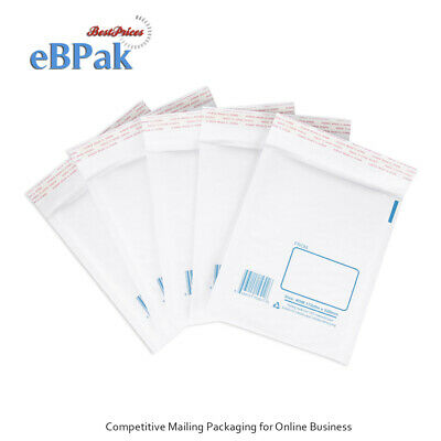 50x Bubble Mailer DM 172x220mm Padded Bag Kraft Envelope for DVD CD Accessories