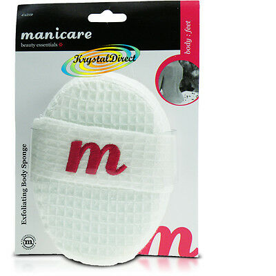 Manicare Cotton Waffle Body Exfoliating Sponge Bath Shower Scrub