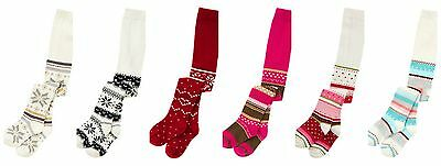 New Gymboree Girls Cotton Tights (0-12 Years) Snowflake Glitter Red Christmas