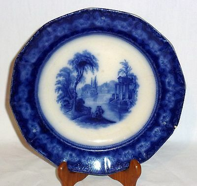 Flow Blue Plate  T. Fell & Co Excelsior