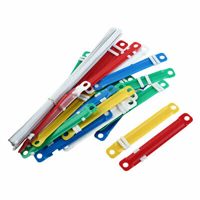 25 Pcs Assorted Color Plastic Two-Piece Paper File Document Fasteners