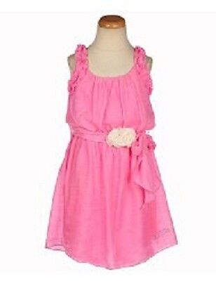 BNWT Guess Girls Pink Dress with Flower Sash Size 4 & 10-12