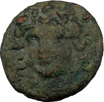 Larissa in Thessaly  350BC Ancient Greek Coin Nymph facing Horse Rare i35571