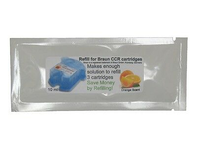6 Refills/2Pkt for Braun® Clean & Renew® Charge Cartridges Pulsonic Syncro CCR3