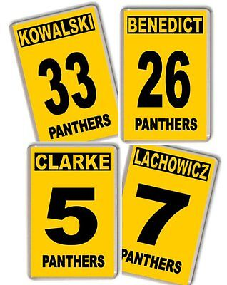 Nottingham Panthers Ice hockey Player name and number Fridge Magnet