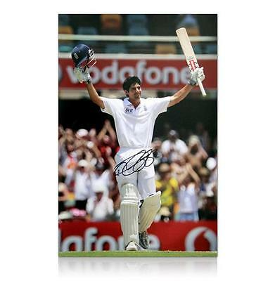 "England Cricket Captain Alastair Cook Signed 24""x16"" Print - AFTAL RD"