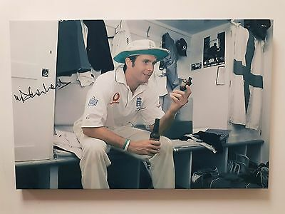 Michael Vaughan England Cricket 2005 Ashes Canvas Unstretched - AFTAL RD