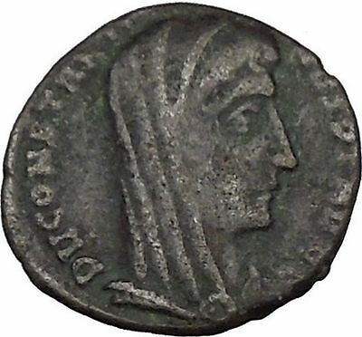 CONSTANTINE I the GREAT 347AD  Ancient Roman Coin Christian Deification  i35623