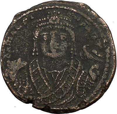MAURICE TIBERIUS 582AD Ancient Medieval BYZANTINE Coin THEOUPOLIS mint   i35625