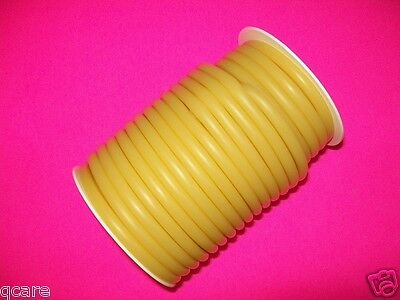 "50 feet 1/16"" I.D x 1/16"" wall 3/16"" O.D Latex Surgical Rubber Tubing Amber"