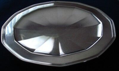 TIFFANY & Co Sterling Silver 1924 ART DECO Serving Tray Footed Shallow PLATTER