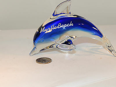Glass Myrtle Beach Dolphin Souvenir over 5 inches  (5186)