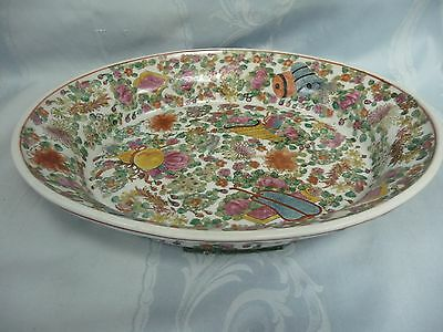 Antique (19Th C.?) Chinese Rose Medallion Platter - Signed