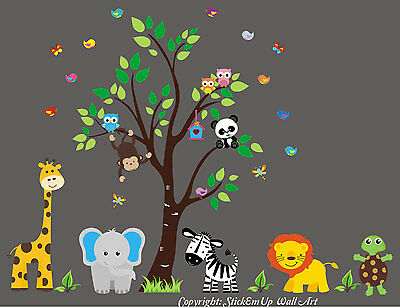 Nursery Wall Decals - Jungle Animal Wall Sticker - Baby Brother - Baby Life