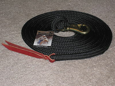 Thomey Natural Horse Training Lead, 14Ft.~ Great For Groundwork ~ Black