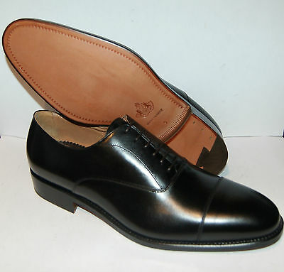 Man - Oxford Captoe - Calf Black - Leather Sole - Blake Construction