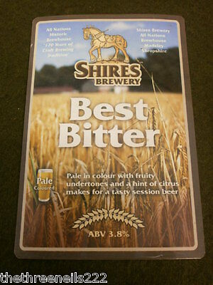 Beer Pump Clip - Shires Best Bitter